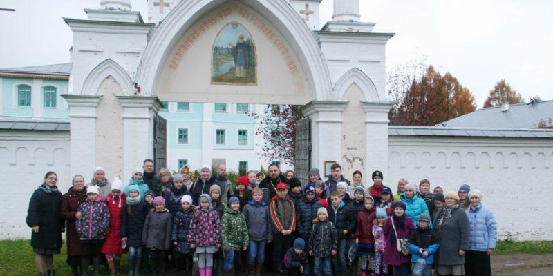Поездка учащихся воскресной школы в Свято-Троицкий Павло-Обнорский монастырь