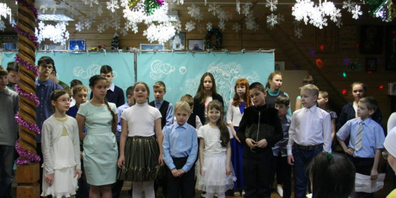 Рождественская елка в Воскресной школе нашего храма